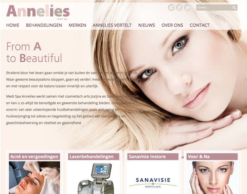 Annelies Aarts Medi Spa Website door GOM Design